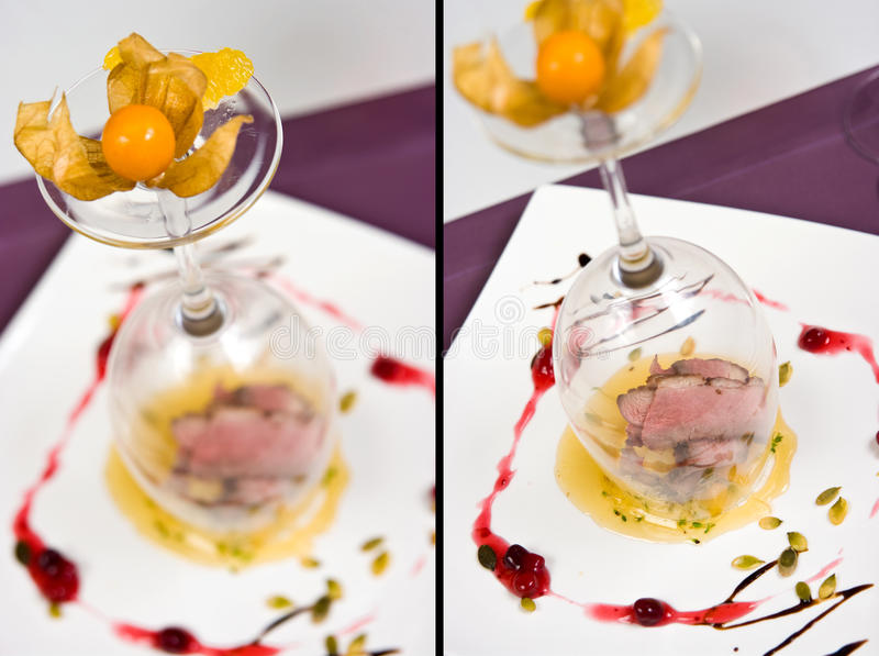 Download Duck served on fruit stock photo. Image of decoration - 11641230