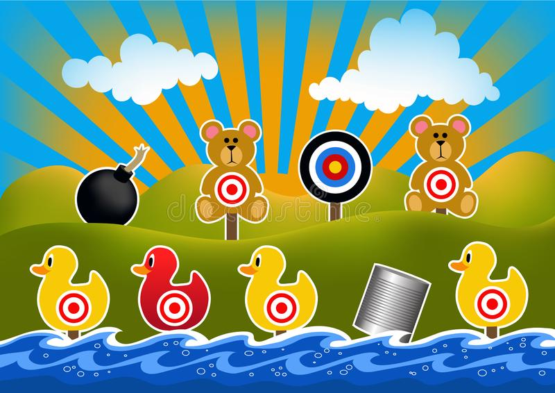 Duck Shoot Game Illustration royalty free stock images