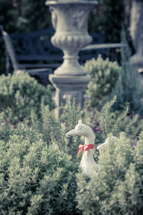 Download Duck Statues In English Garden Stock Photo   Image: 51269886
