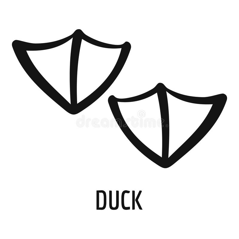Duck step icon, simple style. vector illustration