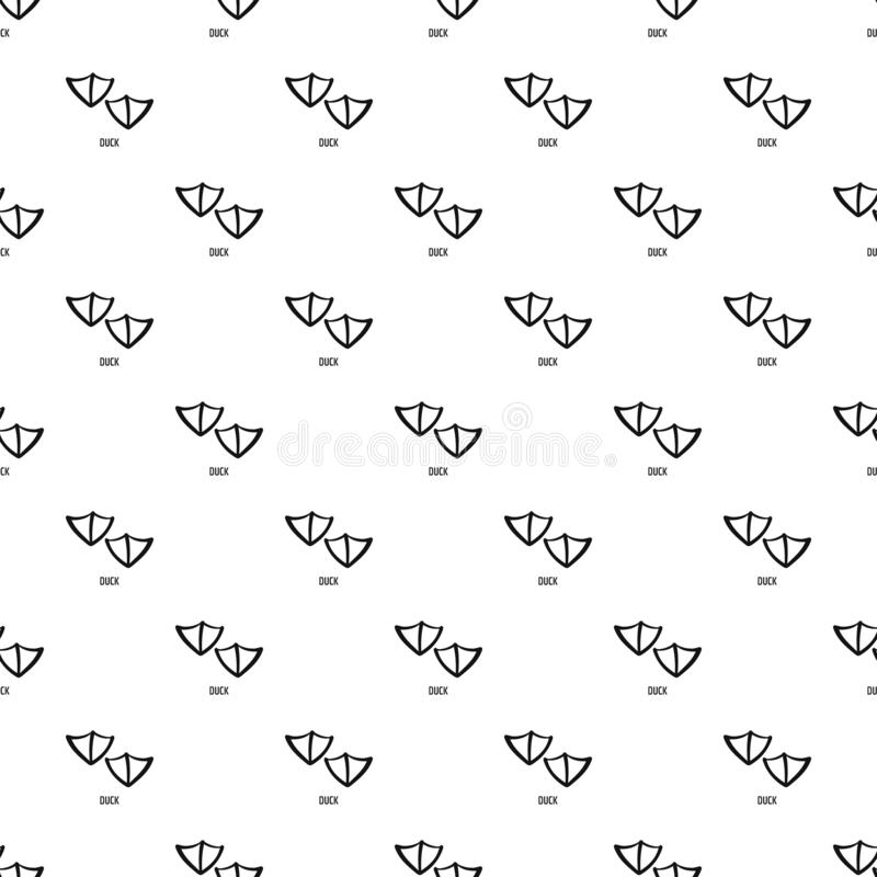 Duck step pattern seamless vector. Repeat geometric for any web design stock illustration