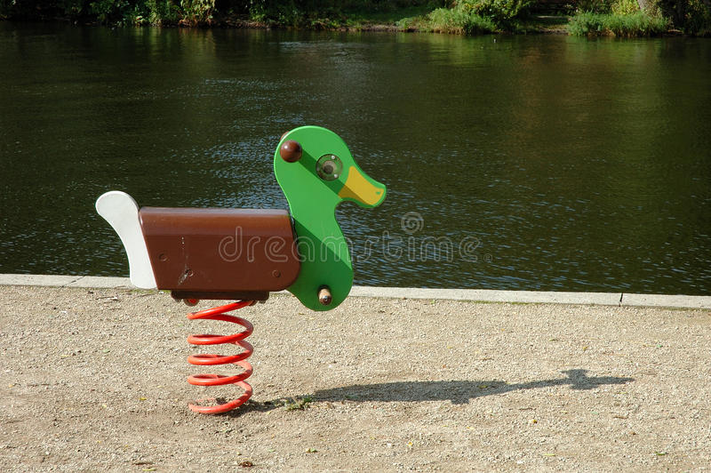 Duck Swing On Playground Royalty Free Stock Image