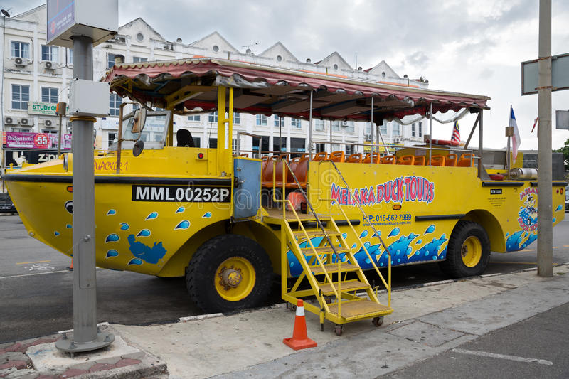 Duck tours this tourist attraction in Malacca royalty free stock photo