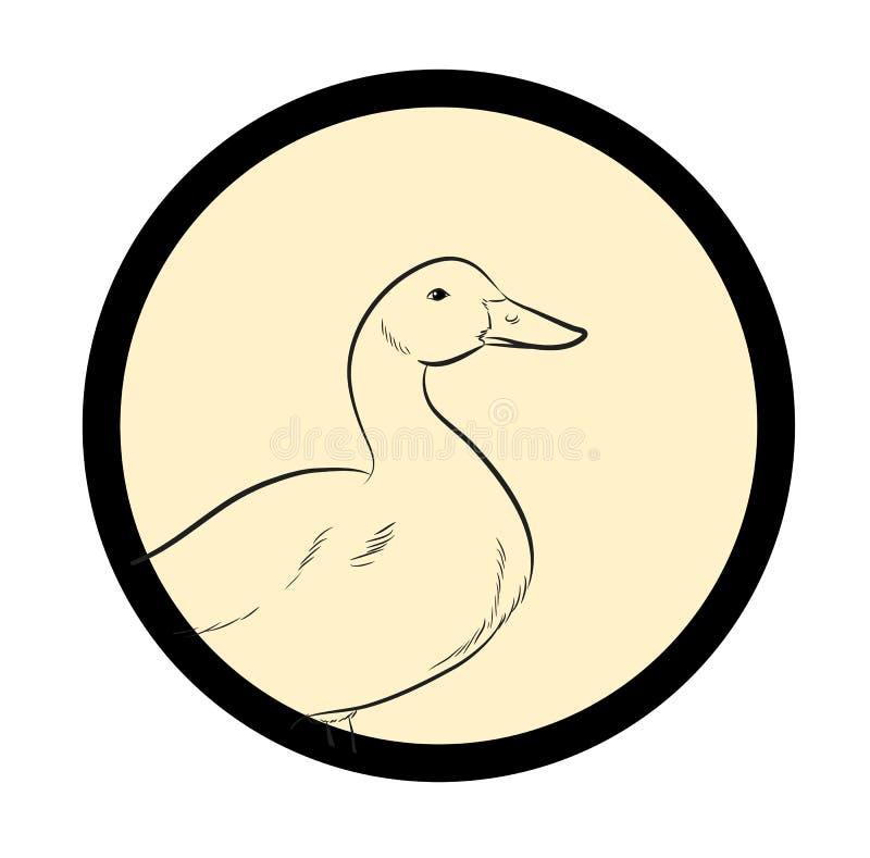 Duck Vintage Drawing Vector illustration stock