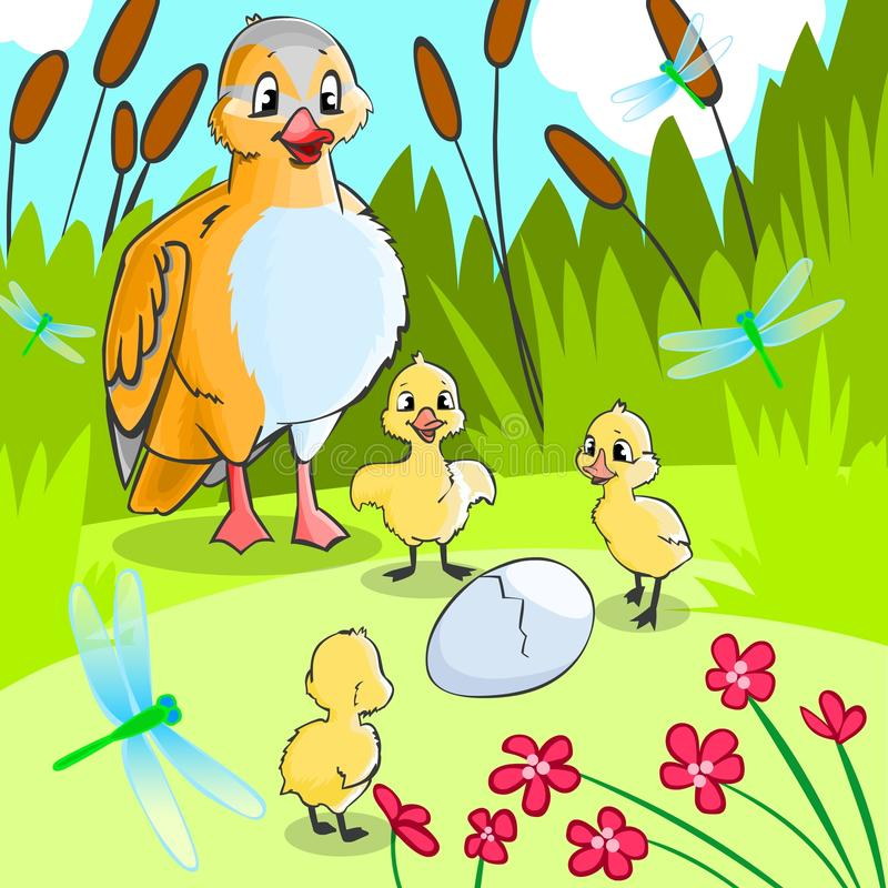 Free Duck With Ducklings. Stock Image - 19240661