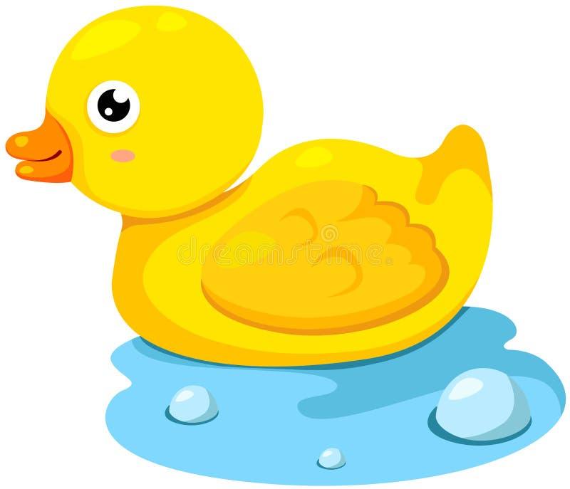 ducka gummi royaltyfri illustrationer
