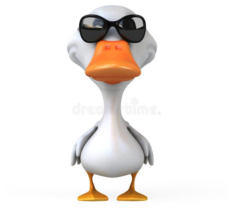ducka white stock illustrationer