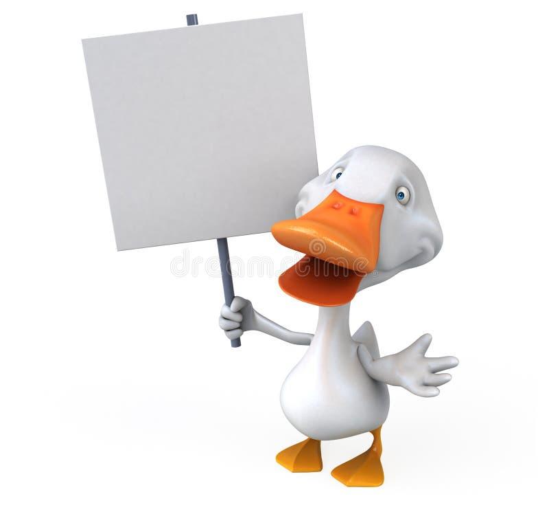 ducka white vektor illustrationer