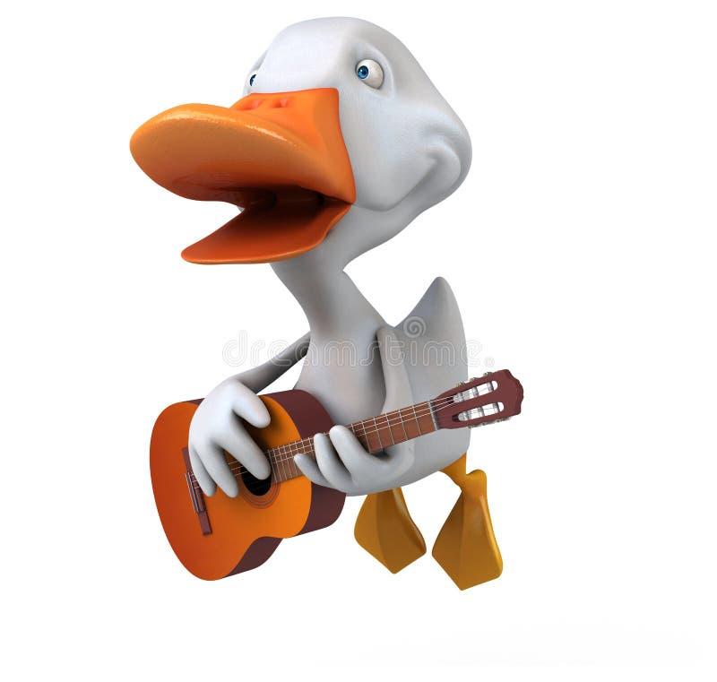 ducka white royaltyfri illustrationer