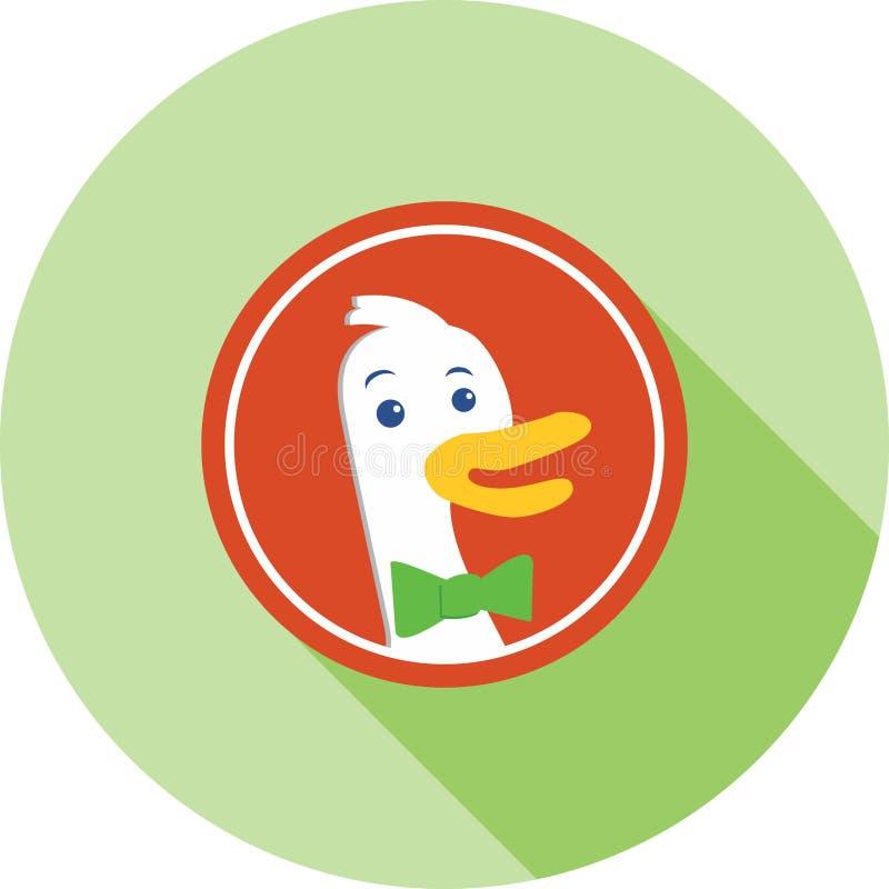 DuckDuckGo ilustração do vetor
