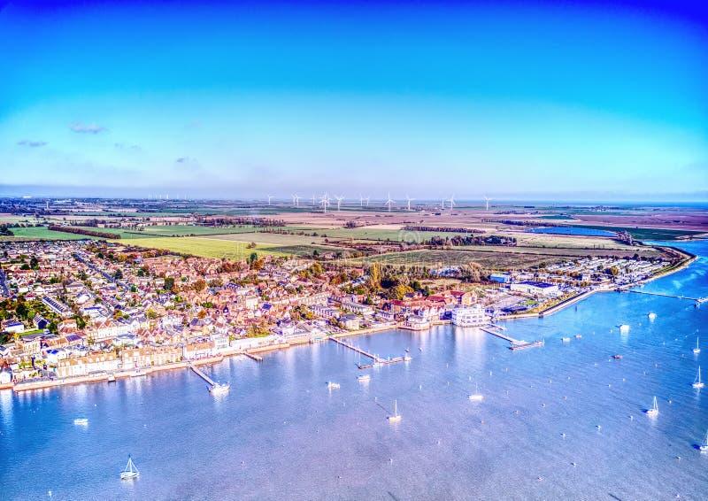 Ducken sich Flussfront - Essex lizenzfreies stockfoto