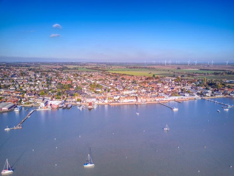 Ducken sich Flussfront - Essex lizenzfreie stockfotos