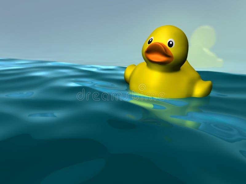 Duckie amarelo plástico ilustração royalty free