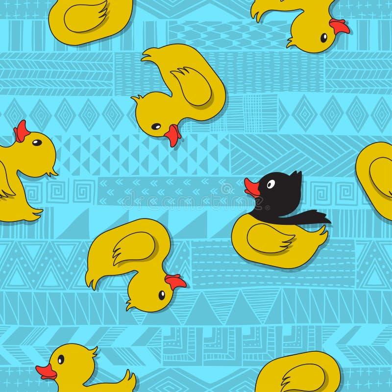 ducklings royaltyfri illustrationer