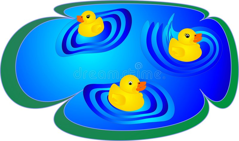 Download Ducklings having fun stock vector. Image of chicky, birds - 7268697