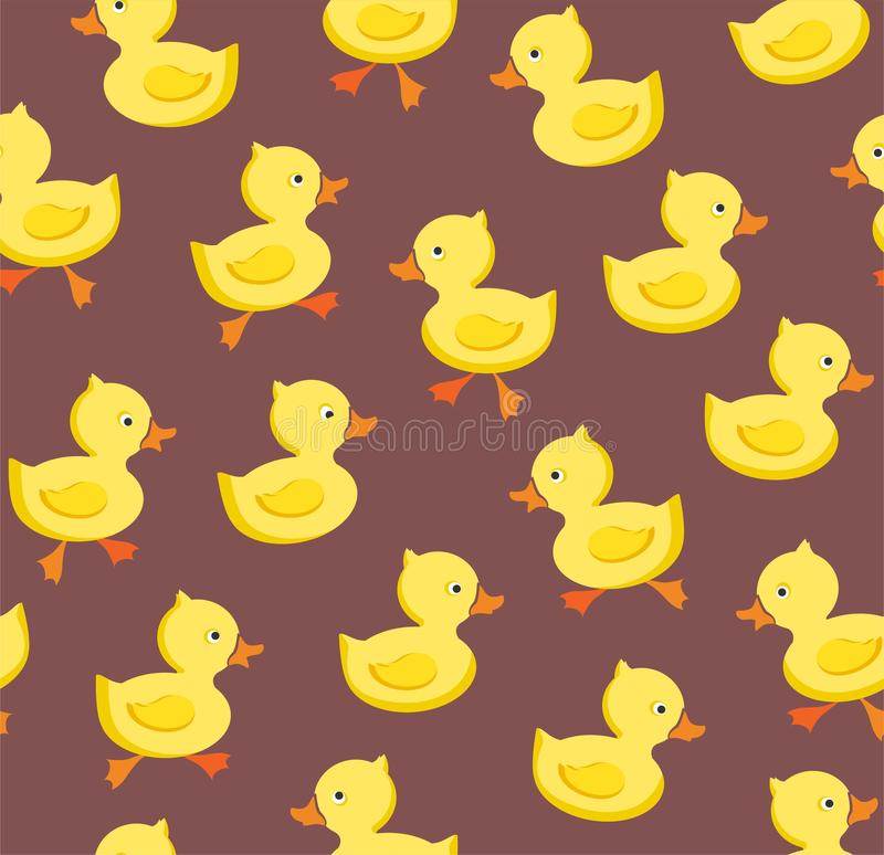 Ducklings, seamless pattern, color, gray - lilac, vector. vector illustration