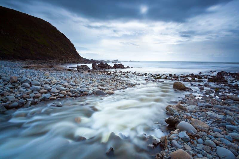 Duckpool-Strand Cornwall England Großbritannien stockfotografie