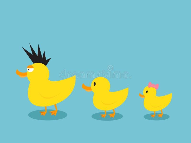 ducks семья иллюстрация вектора