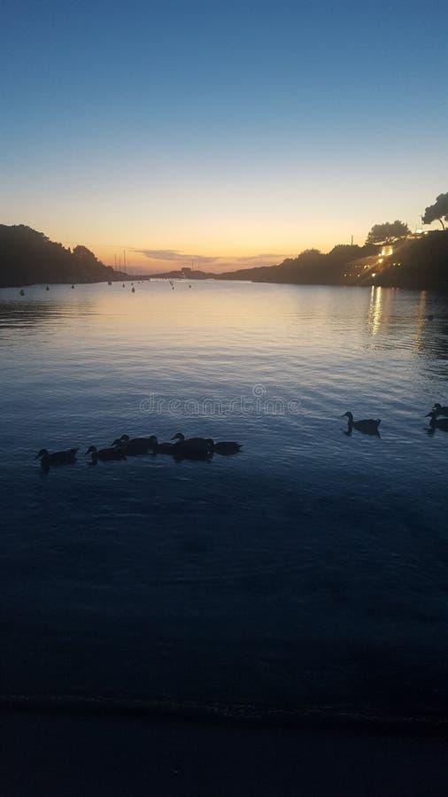 Minorca at dusk royalty free stock images