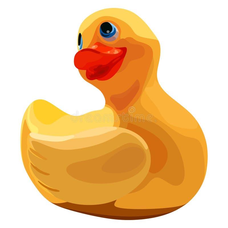 Ducky di gomma per il bagno illustrazione di stock