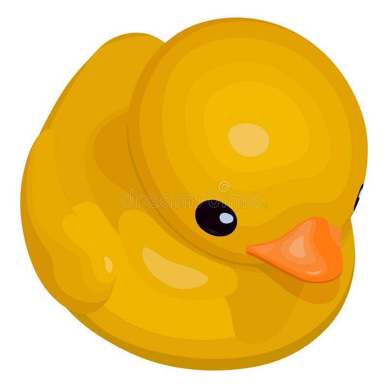 Ducky di gomma per il bagno royalty illustrazione gratis