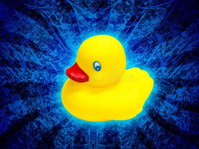 ducky rubber yellow royaltyfri illustrationer