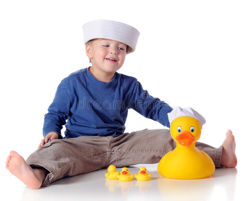 Download Ducky Sailor stock photo. Image of preschooler, smile - 12452436