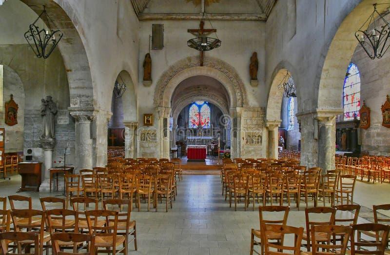 Duclair Francja, Czerwiec, - 22 2016: Świętego Denis kościół fotografia royalty free