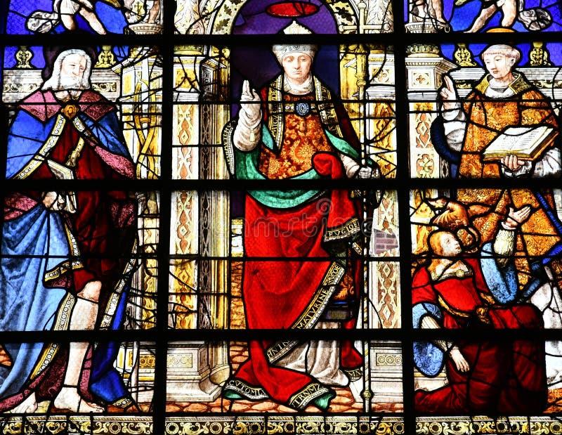 Duclair Francja, Czerwiec, - 22 2016: Świętego Denis kościół obrazy stock