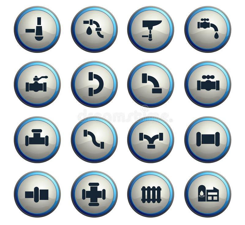 Duct icon set. Duct web icons for user interface design royalty free illustration