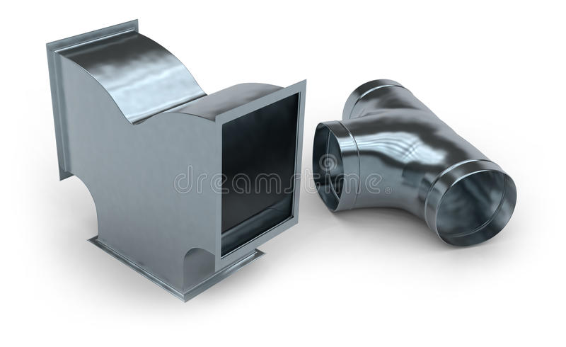 Duct work. Isolated on white royalty free illustration