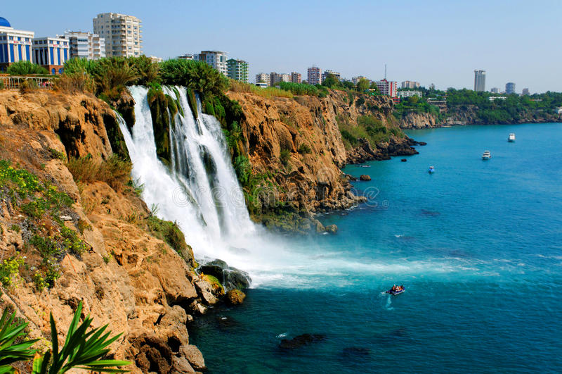 Waterfall, Turkey stock photo