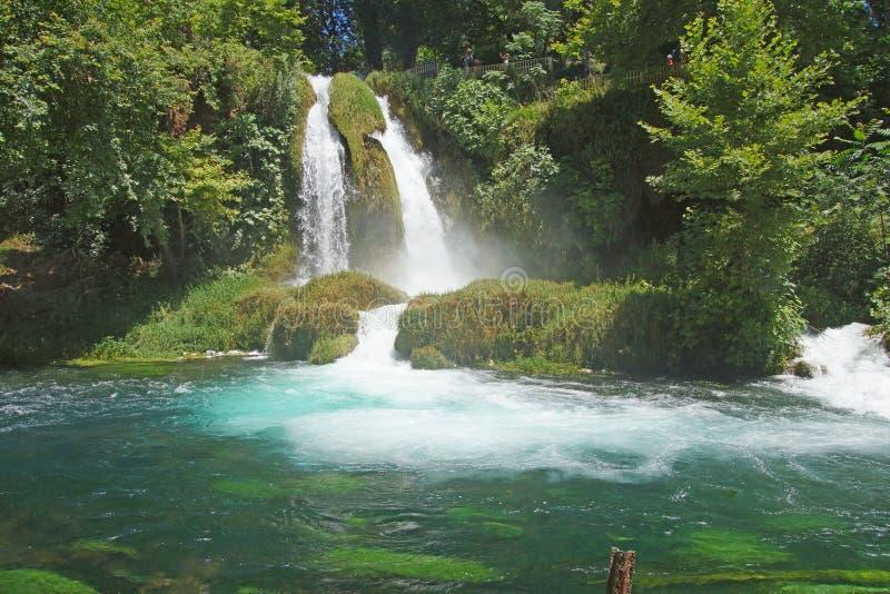 Duden-Wasserfälle schnitzen durch Karst lizenzfreies stockfoto