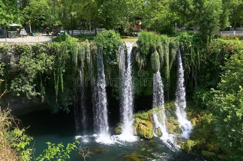 Duden waterfall in Antalya royalty free stock images