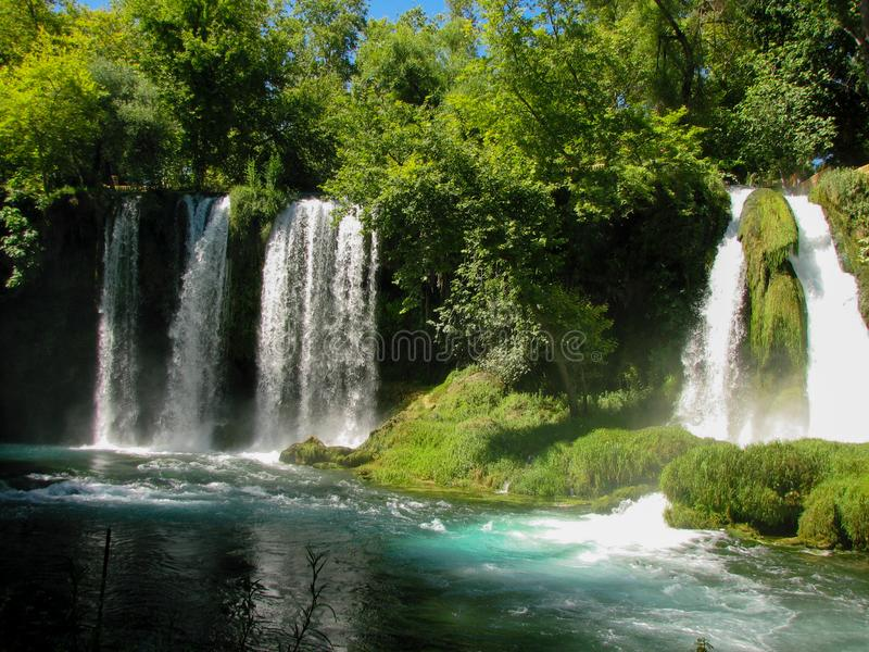 Duden Waterfall natural park. Antalya,Turkey stock images