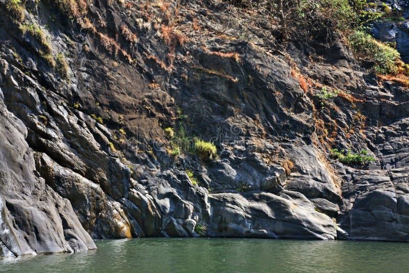 Dudhsagar湖在卡纳塔克邦 印度 库存照片