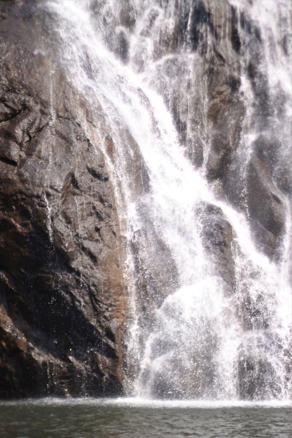 Dudhsagar - cascata nella giungla immagini stock libere da diritti