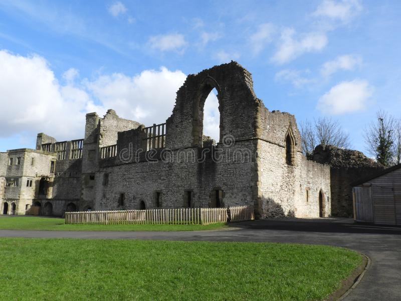 Dudley Castle Courtyard Ruins. Dudley Castle sits at the top of a limestone hill within the grounds of Dudley Zoological gardens, it can be seen for many miles royalty free stock photography