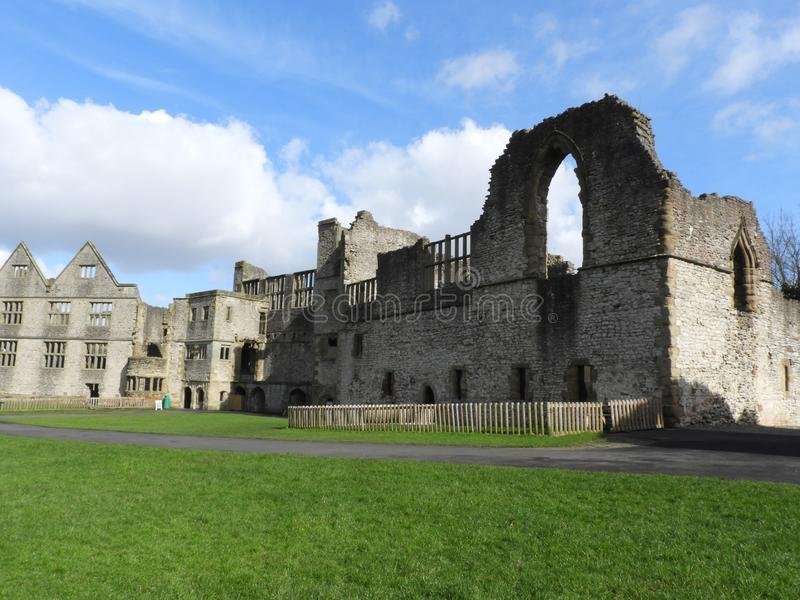 Dudley Castle Courtyard Ruins. Dudley Castle sits at the top of a limestone hill within the grounds of Dudley Zoological gardens, it can be seen for many miles stock photos