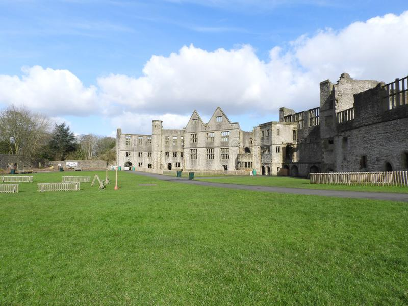 Dudley Castle Courtyard Ruins. Dudley Castle sits at the top of a limestone hill within the grounds of Dudley Zoological gardens, it can be seen for many miles royalty free stock photo