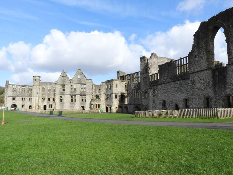 Dudley Castle Courtyard Ruins. Dudley Castle sits at the top of a limestone hill within the grounds of Dudley Zoological gardens, it can be seen for many miles stock photography