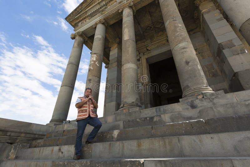 Duduk-Spieler in Armenien stockfoto
