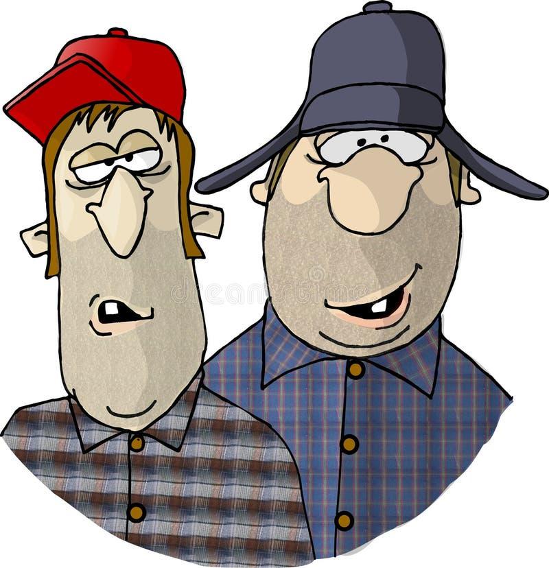 Due agricoltori del Sud royalty illustrazione gratis