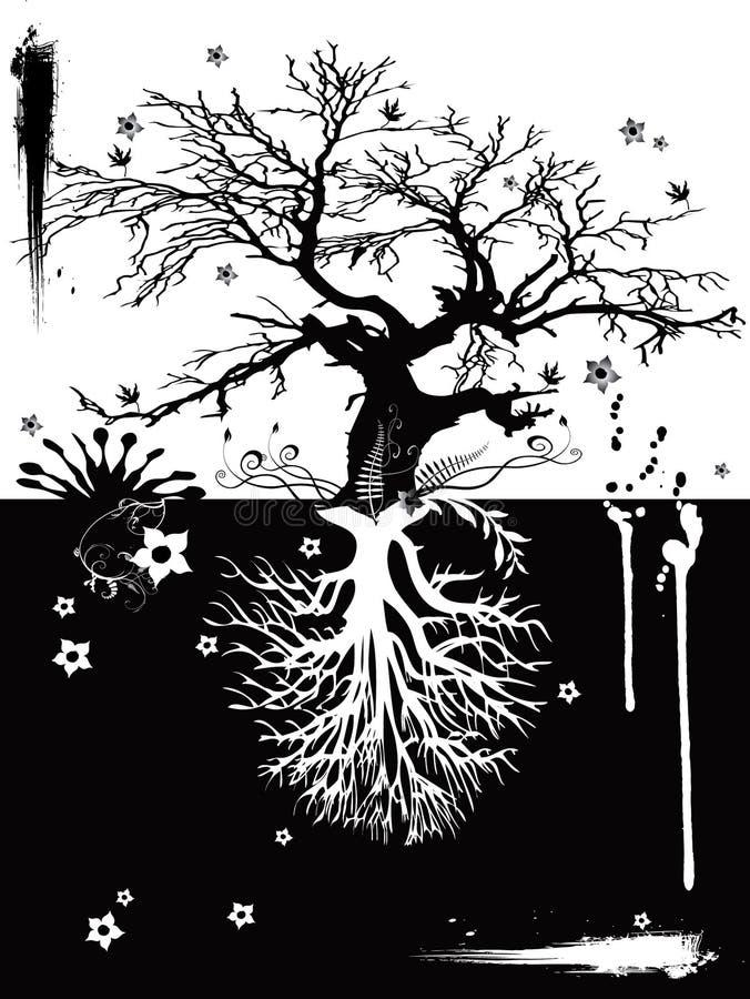 Due alberi illustrazione di stock