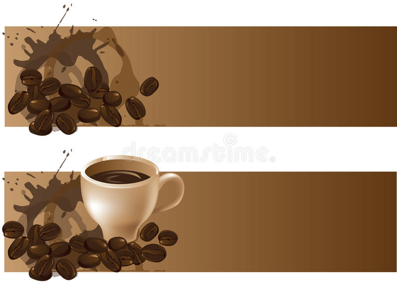 Ambiti di provenienza del caffè illustrazione vettoriale