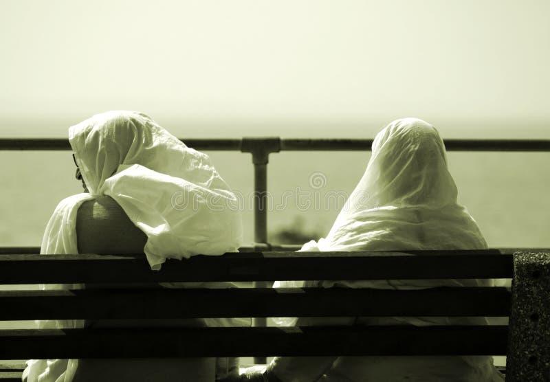 Download Due amici immagine stock. Immagine di coppie, banco, musulmani - 211299
