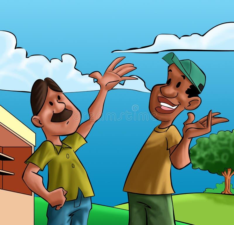 Due amici felici royalty illustrazione gratis