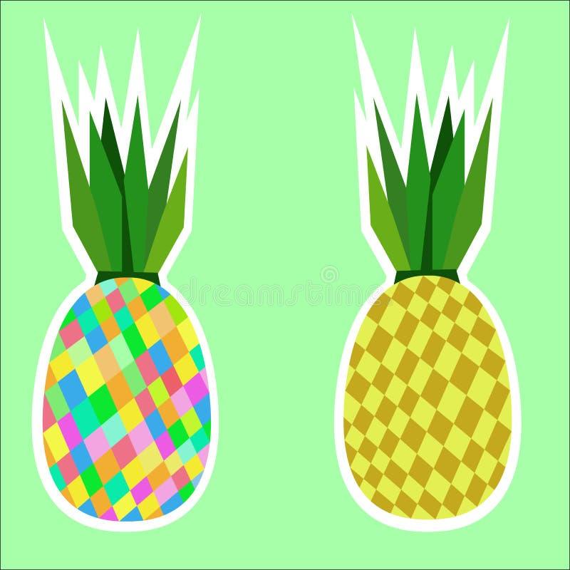 Due ananas illustrazione vettoriale