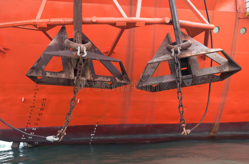 Due ancoraggi fotografie stock