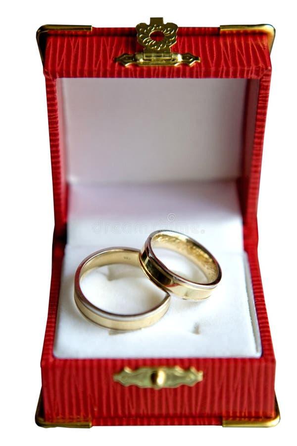 Due anelli di oro immagine stock libera da diritti